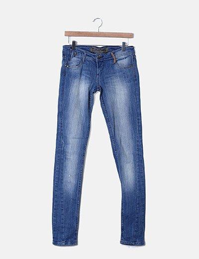 Pantalón denim azul claro ripped