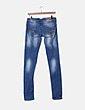 Pantalón denim azul claro ripped Stradivarius