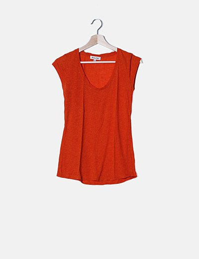 Camiseta naranja jaspeada