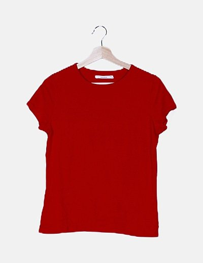 Camiseta roja manga corta