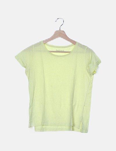 Camiseta amarilla manga corta