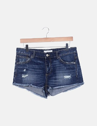 Pantalón short denim