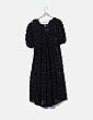 Vestido midi negro texturizado Zara