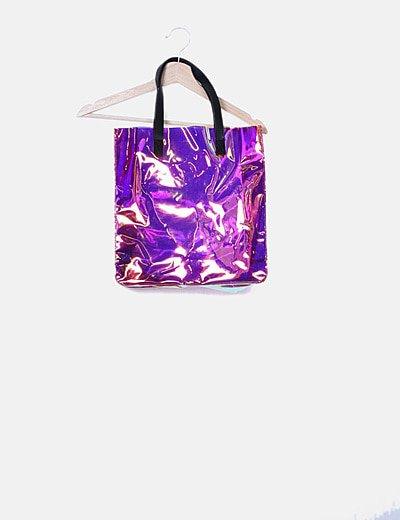Bolso shopper multicolor