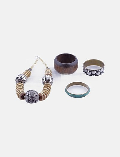 Pack collar + 3 pulseras + anillo