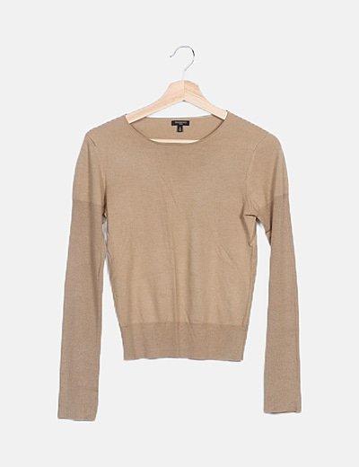 Jersey tricot beige