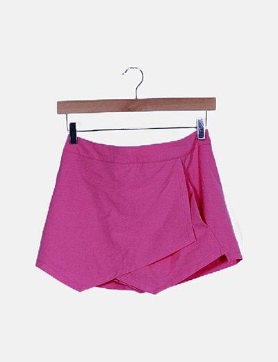 Falda pantalón rosa chicle