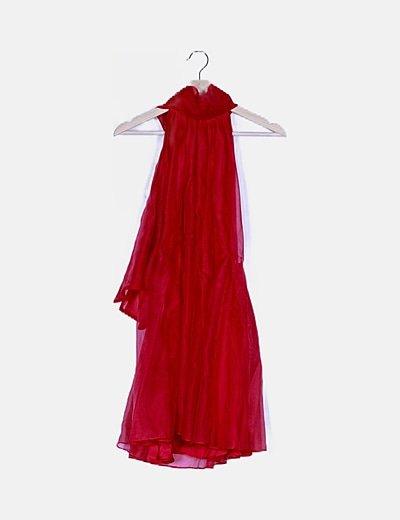 Vestido tul rojo