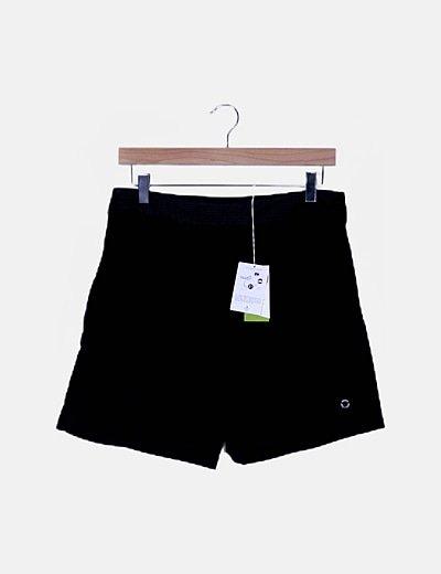 Falda pantalón fluido negro