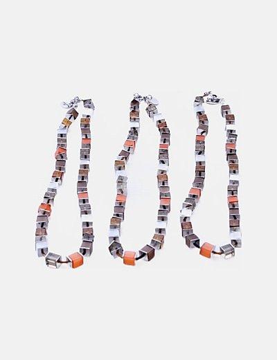 Pack 3 collares multicolor cuadrados