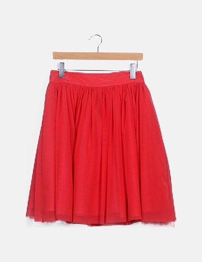 Falda roja tul