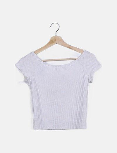 Camiseta blanca detalle lazos