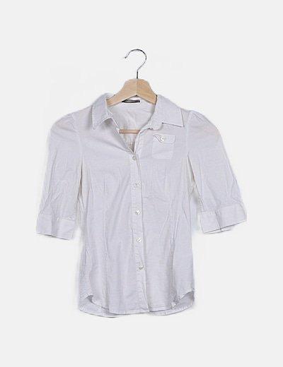 Camisa blanca manga francesa