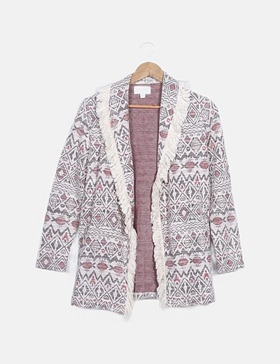Chaqueta estampada tweed