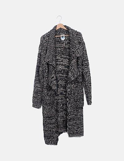 Abrigo largo de punto tricot