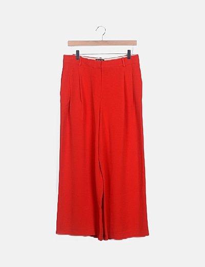 Pantalón palazzo rojo