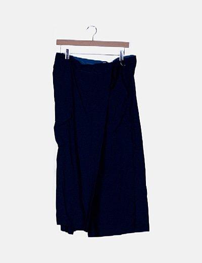 Falda pantalón azul marino combinado