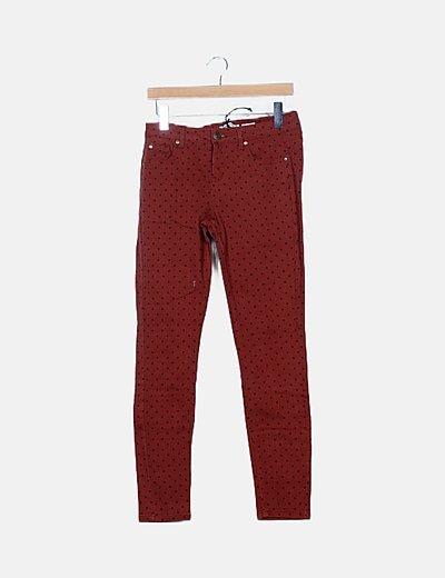 Jeans teja de lunares