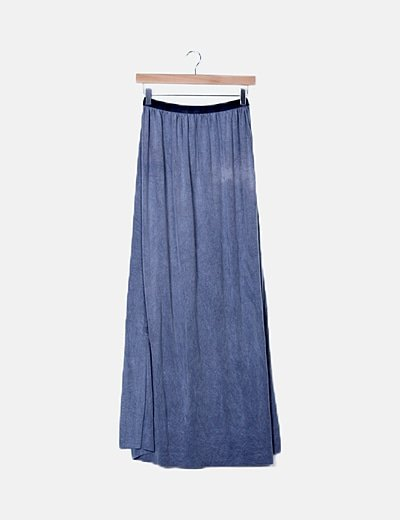 Falda azul de antelina