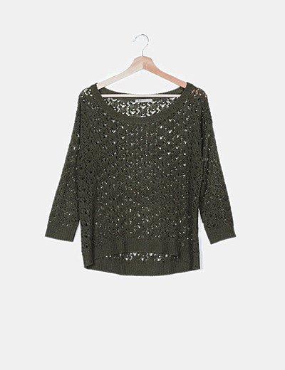 Jersey crochet verde