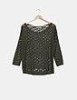 Jersey crochet verde Suiteblanco