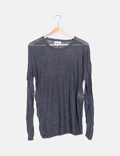 Jersey gris tricot