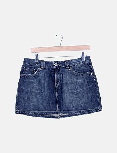 Falda mini denim azul