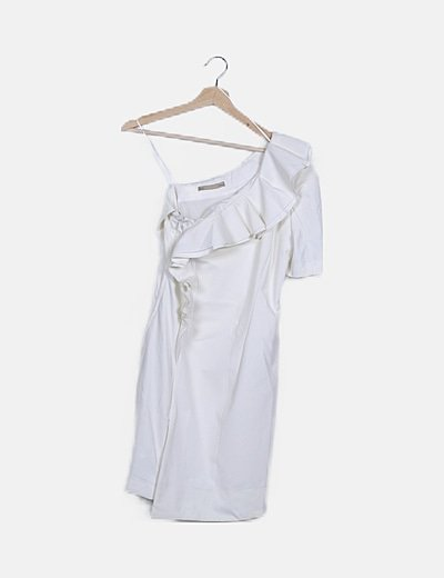 Vestido blanco asimétrico