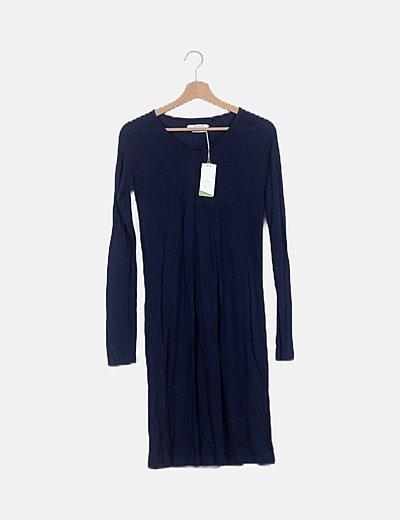 Vestido basic azul marino