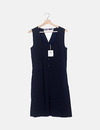 Vestido azul marino evasé