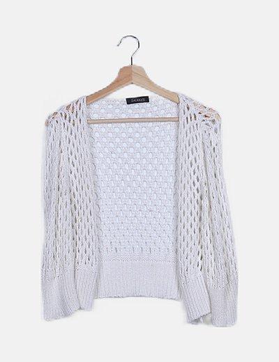 Jersey blanco crochet
