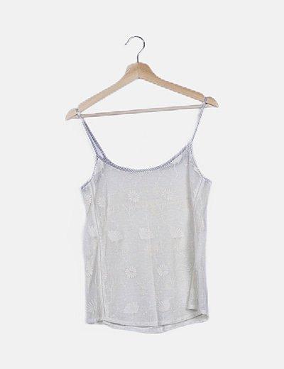 Blusa bordada blanca