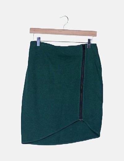 Mini falda verde cremallera