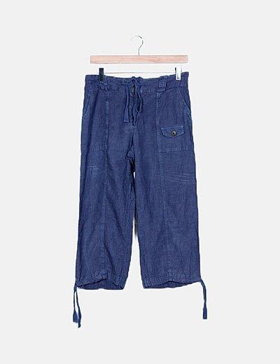 Pantalón pirata azul