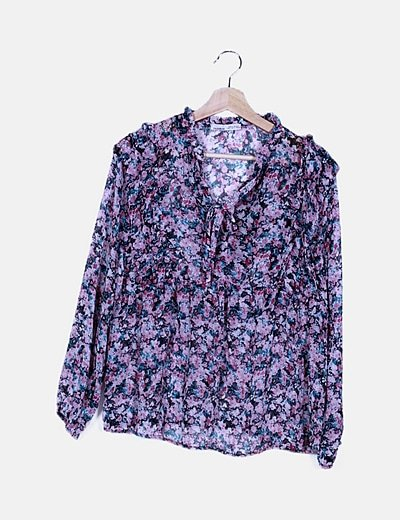 Blusa rosa floral
