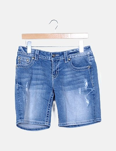 Jeans piratas efecto desgastado