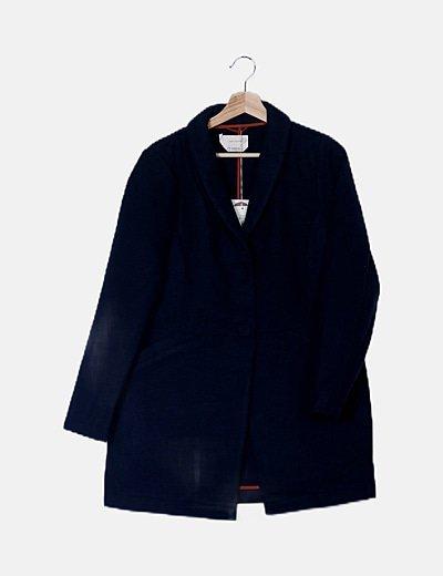 Abrigo lana azul marino