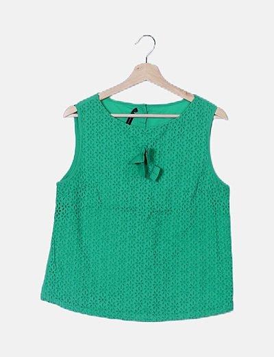 Blusa verde texturiza