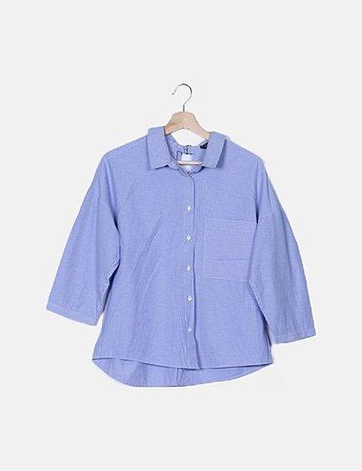 Camisa oversize azul de rayas