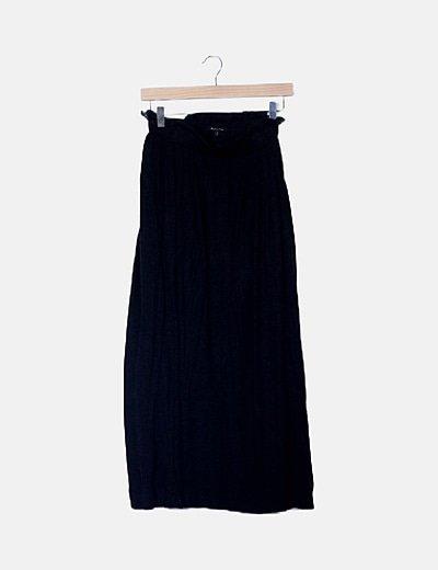Falda fluida gris cintura elástica