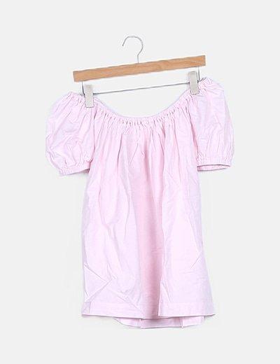 Blusa bardot rosa