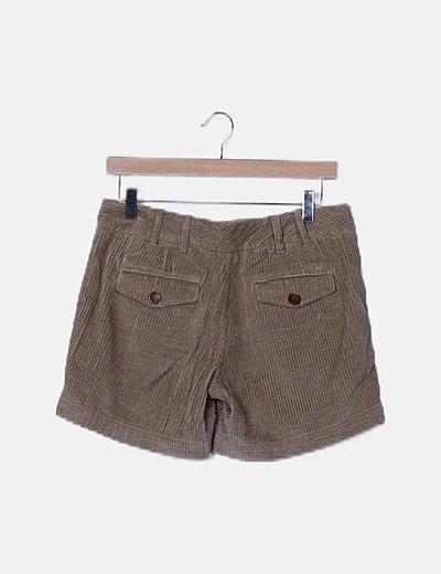 Pantalón short pana