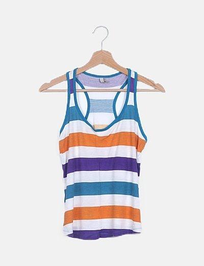 Camiseta multicolor básica