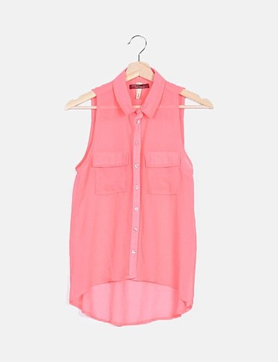 Camisa rosa fucsia fluida
