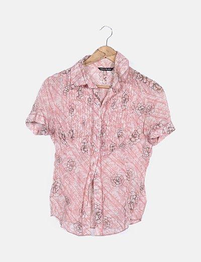 Blusa rosa print floral