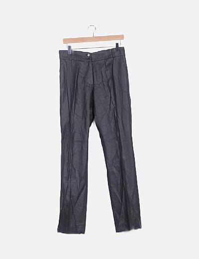 Pantalón chino gris satinado