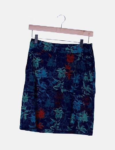Falda mini estampada multicolor