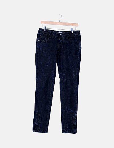 Jeans bicolor encerados
