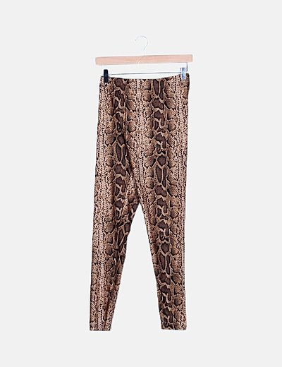 Legging marrón animal print