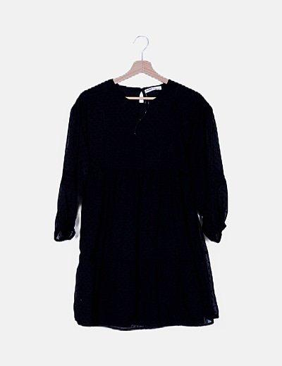 Vestido plumetti negro